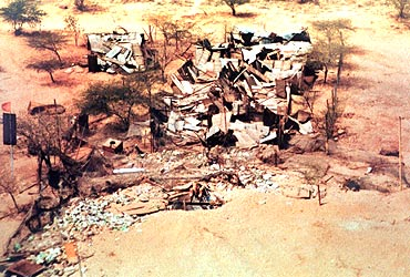 The site of the second nuclear blast site in Pokhran, Rajasthan