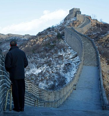 President Obama at the Great Wall of China