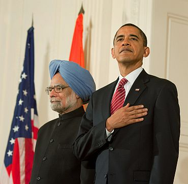 Dr Singh with President Obama, November 2009