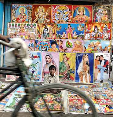 A poster shop in Chhapra