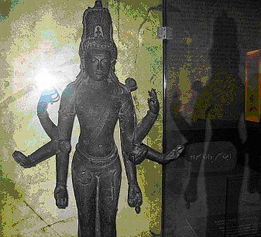 A Vishnu statue at museum in Kuala Lumpur