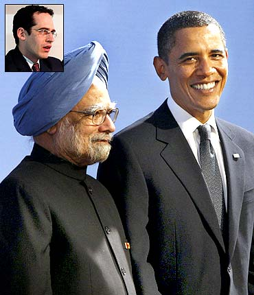 Prime Minister Manmohan Singh with US President Barack Obama. Inset: Richard Fontaine
