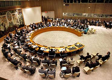 The United Nations Security Council meets