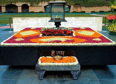 Mahatma Gandhi's samadhi