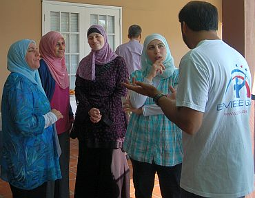 A group of women at Nidal's residence