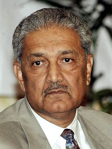Disgraced Pakistani atomic scientist A Q Khan