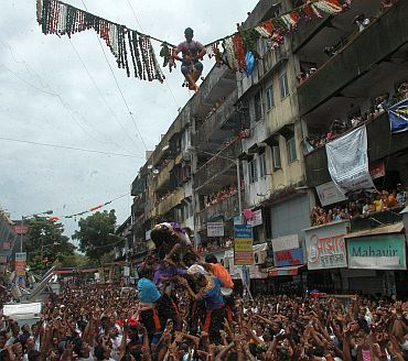 Mumbai's 'Govindas' in action