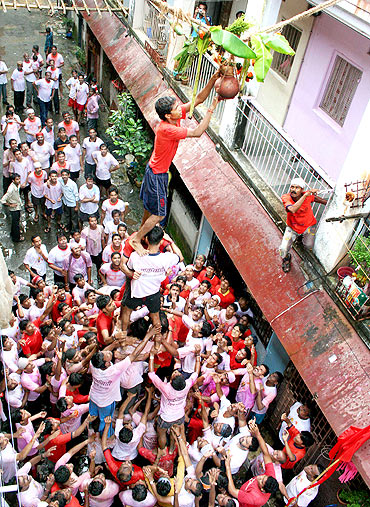 Dahi Handi celebrations in