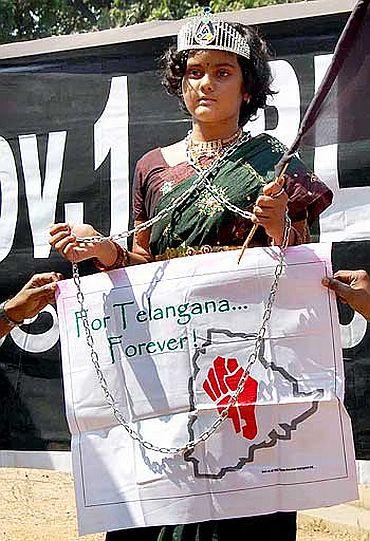 Telangana statehood protest