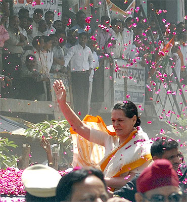 Sonia on the campaign trail
