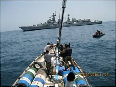 Guided missile destroyer INS Delhi