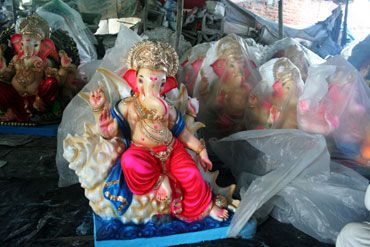 Ready to export Ganeshas in the store-room