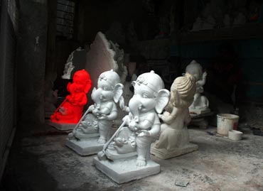 PoP Ganeshas in the store-room