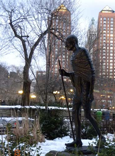 Mahatma Gandhi's statute in New York City