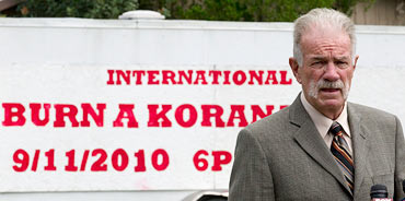 Dove World Outreach Center church pastor Terry Jones announces his decision to burn the Quran