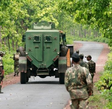 Trudging on Naxal's path with upgraded armour