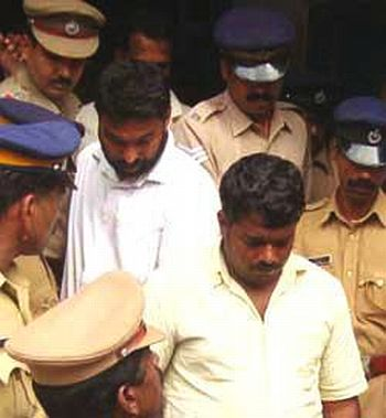 Two suspects in the case, Jaffar and KK Ali, after emerge from the court