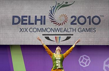 A dancer performs during the launch of the XIX Commonwealth Games Queen's Baton Relay at Buckingham Palace in London