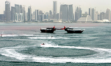 A view of the Qatar skyline