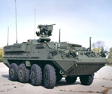 Stryker armoured vehicle
