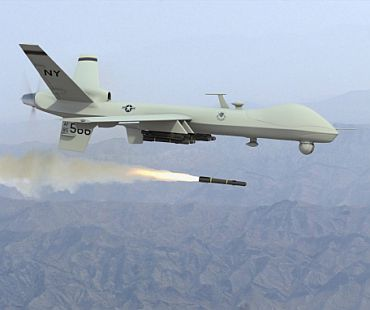 A US drone in action over North Waziristan