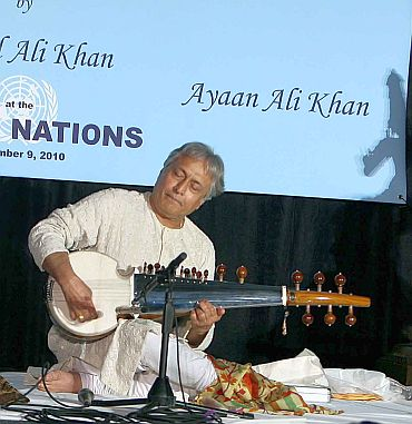 The sarod maestro had created a special composition to mark the occasion