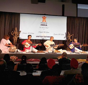 The Ustad casts his magic along with his sons