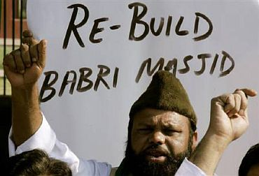 A protest against the Babri Masjid demolition in New Delhi