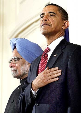 A file photograph of President Barack Obama with Prime Minister Manmohan Singh