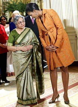 Gursharan Kaur with Michelle Obama