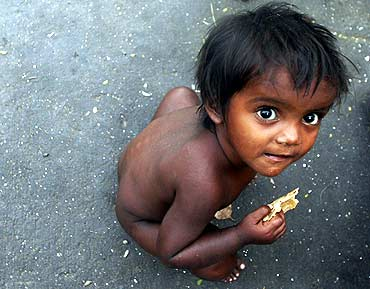 A boy at a slum in Mumbai