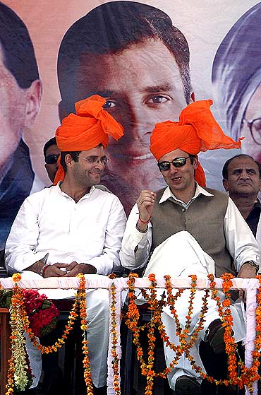 Rahul Gandhi with Omar Abdullah