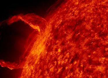 An illustration of a solar flare