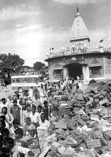Supporters of the Ram Temple at Ayodhya