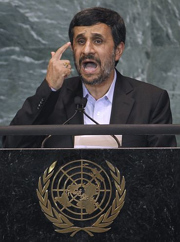 Iran's President Mahmoud Ahmadinejad addresses the 65th United Nations General Assembly