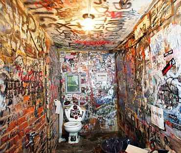 The original Punk Rock haunt flies the flag for filthy rock club loos the world over