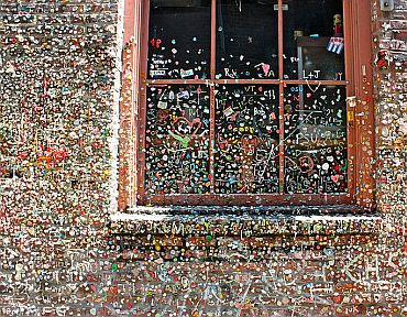 The Gum Wall in Downtown Seattle, USA