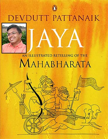 Dr Devdutt Pattanaik (inset), and his latest book Jaya