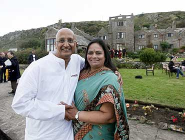Sunita Poddar with her husband Sarwan