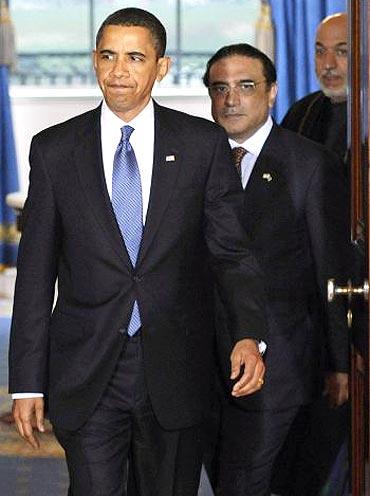 US President Barack Obama with Pakistan President Asif Ali Zardari
