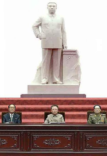North Korean leader Kim Jong-Il participates in the 12th Supreme People's Assembly
