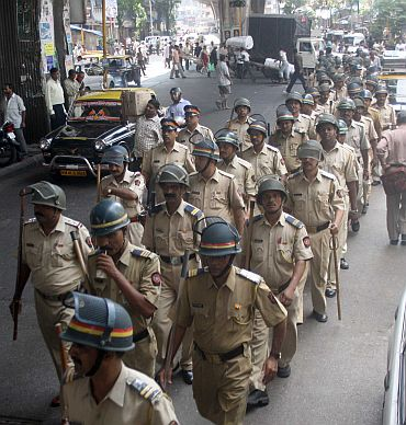 Police deployment in Mumbai, September 29,  ahead of the Ayodhya verdict