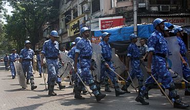 Rapid Action Force personnel in Mumbai, September 29