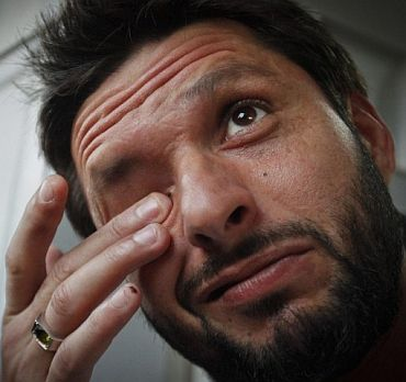 Is the real Afridi the one we saw at Karachi or the one at Mohali?
