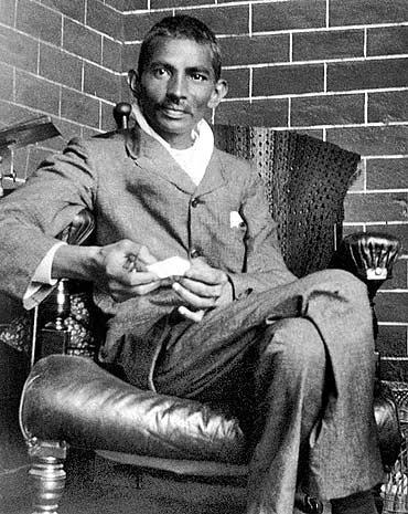 Mohandas Gandhi in 1908