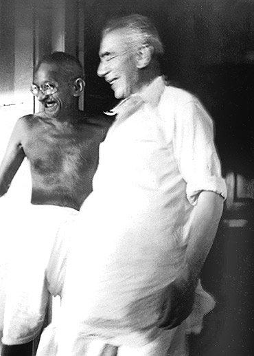 Gandhi, now the Mahatma, with his old friend Herman Kallenbach