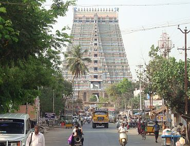 The Ranganathaswamy temple in Srirangam