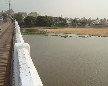 The Kaveri river in Srirangam