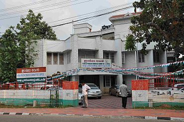 The Kerala Pradesh Congress Committee office in Thiruvananthapuram