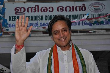 Shashi Tharoor in campaign mode
